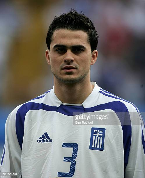 Loukas Vyntra of Greece during the Group B FIFA 2005 Confederations Cup match between Greece and Mexico at the Waldstadion on June 22 in Frankfurt...