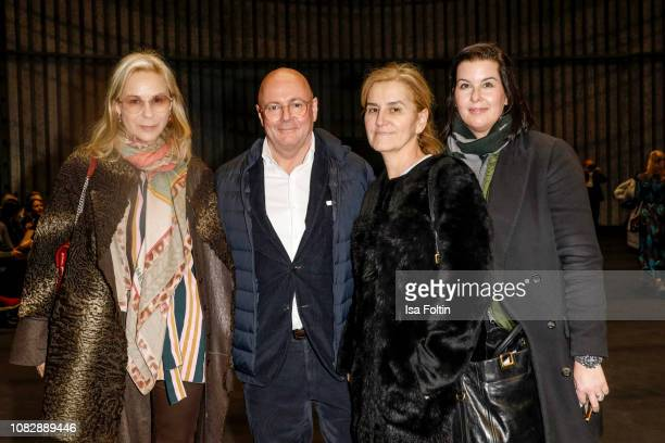 Loulou Berg Andre Maeder Petra Fladenhofer and Simone Heift attend the Odeeh Defile during the Berlin Fashion Week Autumn/Winter 2019 at Haus Der...