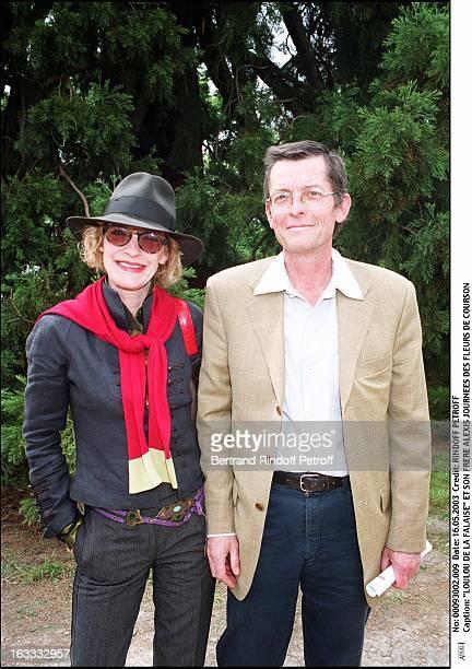Loulou De La Falaise and her brother Alexis Courson flower show