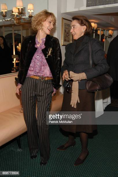 Loulou de la Falaise and Mica Ertegun attend Andre Leon Talley and Robert Burke host at La Caravelle for Loulou de la Falaise Collection on February...