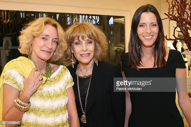 Loulou de la Falaise Mrs Gregory Peck and Cecilia Peck Voll attend Exclusive Preview of the Fall 2008 Fine Jewelry and Handbag Collection at Oscar de...