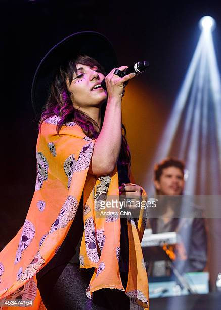 Loulou Ghelichkhani performs on stage during Day 3 of Squamish Valley Music Festival on August 10, 2014 in Squamish, Canada.