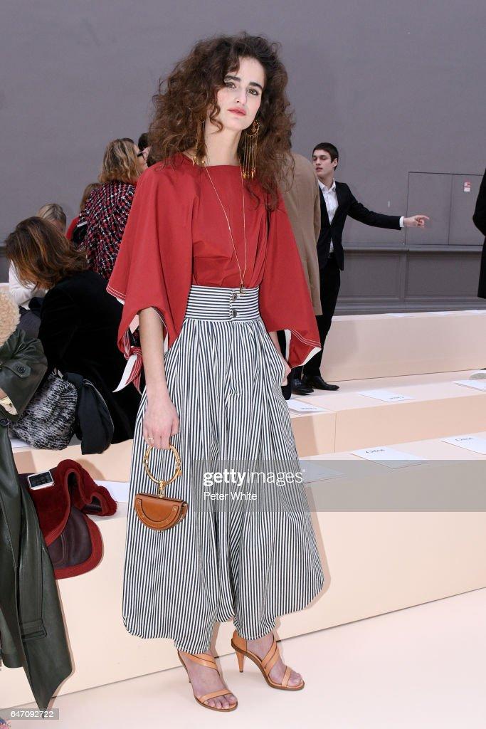 Loulou Robert attends the Chloe show as part of the Paris Fashion Week Womenswear Fall/Winter 2017/2018 on March 2, 2017 in Paris, France.
