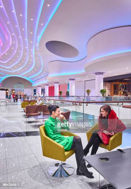 Lounge area in the new shopping mall in Moscow