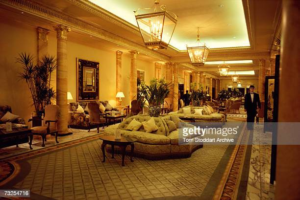 A lounge at the Dorchester Hotel on Park Lane London April 1991