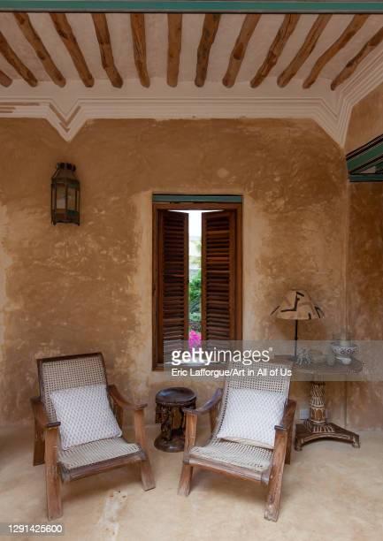 Lounge in Stairs in a swahili house, Lamu County, Lamu, Kenya on March 2, 2011 in Lamu, Kenya.