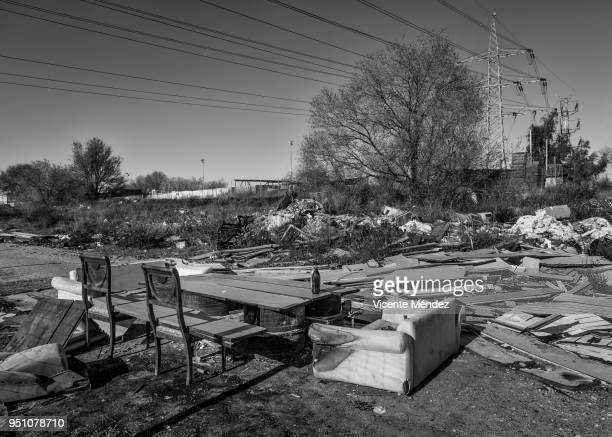 A lounge in the dump