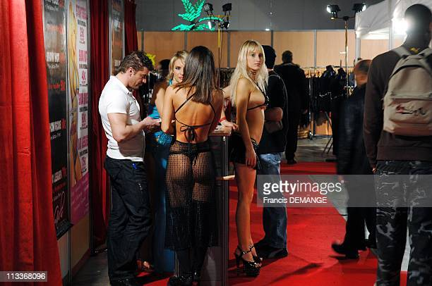 Lounge Of Erotic Mater Permission In Le Bourget France On March 15 2008 The lounge of Erotic is also particulaly hot striptease sessions Girls entice...