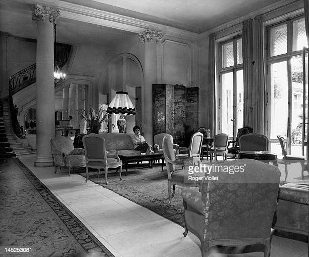 Lounge of the Hotel Ritz in the Place Vendome Paris September 1957