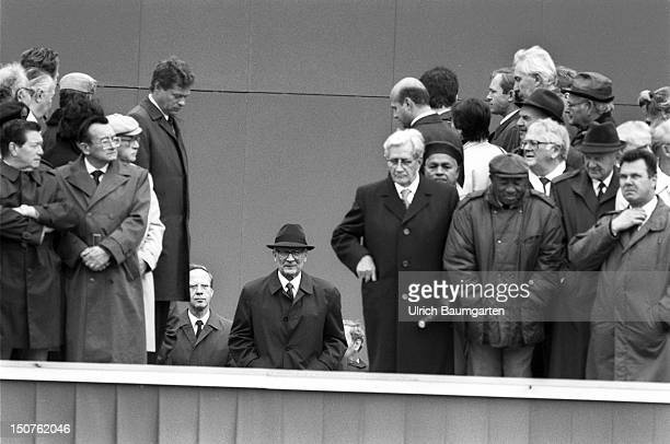 VIP lounge with Erich HONECKER Politburo members and other Eastern Bloc head of states