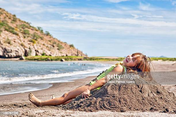Lounging on a sand hill