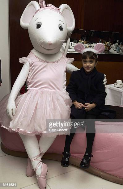 Lourdes daughter of Madonna at the Angelina Ballerina Nutcracker gala preparty on December 3rd 2002 at the St Martins hotel in London where the kids...