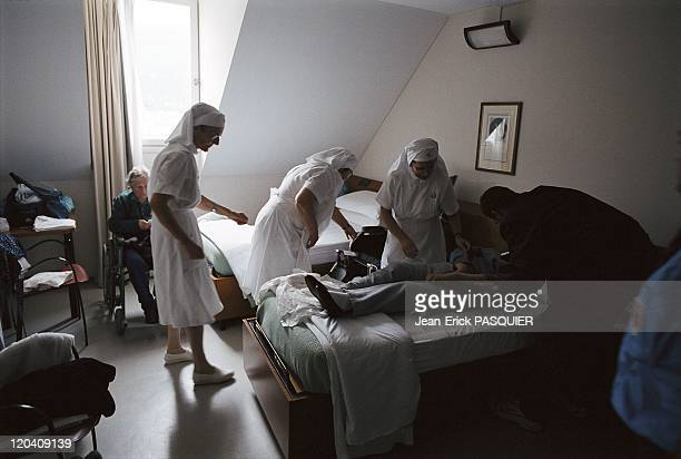 Lourdes France Room for sick person in the building of italian hospitality of Unitalsi a Unione Nationale Italiana Transporto Ammalati a Lourde...