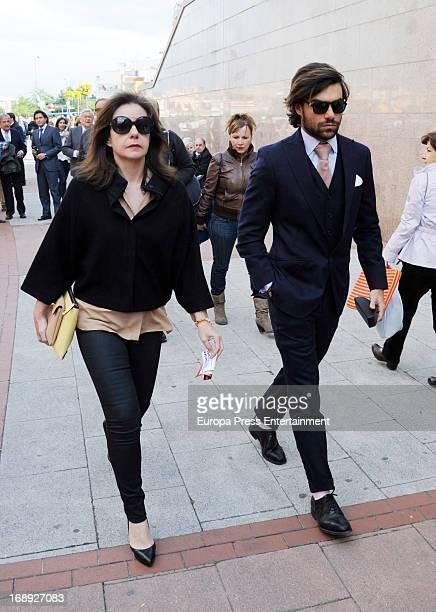Lourdes Garzon and Diego Osorio attend San Isidro Bullfight 2013 at Plaza de Toros de Las Ventas on May 16 2013 in Madrid Spain