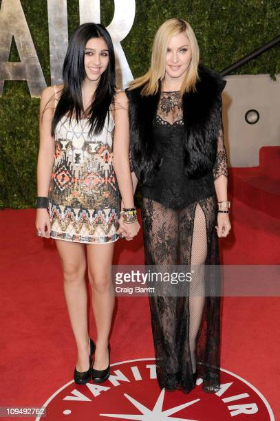 Lourdes Leon and Madonna arrive at the Vanity Fair Oscar party hosted by Graydon Carter held at Sunset Tower on February 27 2011 in West Hollywood...