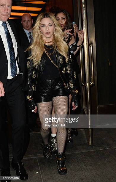 Lourdes Leon and Madonna coming out of the Lady Gaga Party on May 4 2015 in New York City