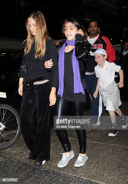 Lourdes Leon and Rocco Ritchie on October 4 2008 in New York City