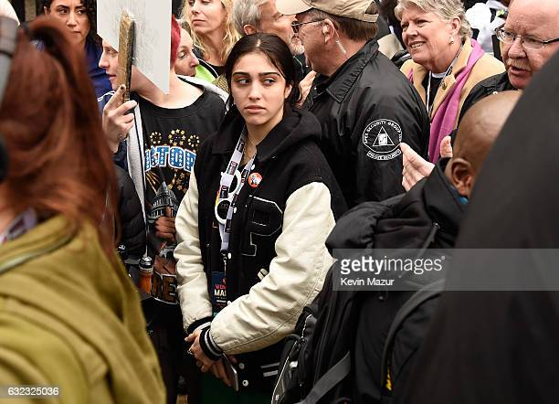 Lourdes Leon attends the rally at the Women's March on Washington on January 21 2017 in Washington DC