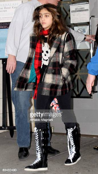 Lourdes Leon leaves the Kabbalah Centre with Madonna on October 25 2008 in New York City