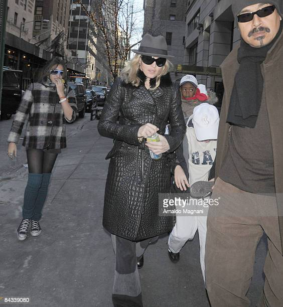 Lourdes Leon Madonna and Son David are seen on the streets of Manhatten on January 17 2008 in New York City