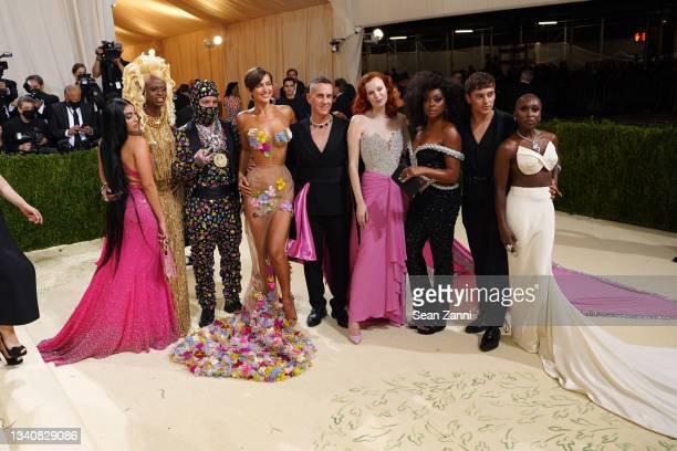 Lourdes Leon, Symone, J Balvin, Irina Shayk, Jeremy Scott, Karen Elson, Taraji P. Henson, Tom Daley and Cynthia Erivo attend 2021 Costume Institute...