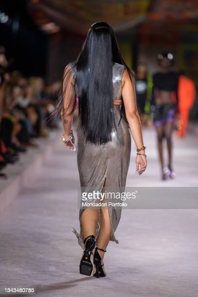 Lourdes Leon walks the runway at the Versace fashion show Spring Summer 2022 on September 24, 2021 in Milan, Italy.