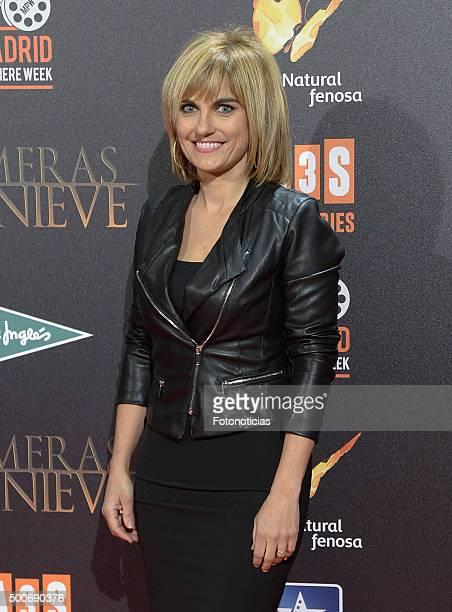 Lourdes Maldonado attends the 'Palmeras en la Nieve' Premiere at Kinepolis Cinema on December 9 2015 in Madrid Spain