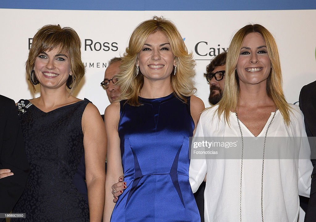 Lourdes Maldonado, Sandra Golpe and Ainhoa Arbizu attends 'La Razon' newspaper 15th anniversary party on November 4, 2013 in Madrid, Spain.