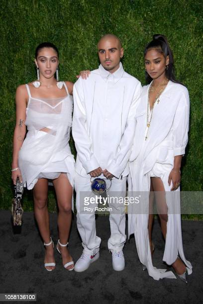 Lourdes Maria Ciccone Leon Raul Lopez and Vashtie Kola attend the CFDA / Vogue Fashion Fund 15th Anniversary Event at Brooklyn Navy Yard on November...