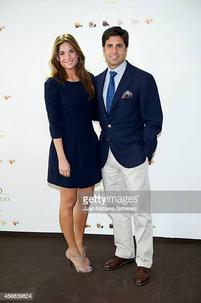Lourdes Montes and Fran Rivera attend 'Ferrero Golden Gallery' presentation at Museo ThyssenBornemisza on October 8 2014 in Madrid Spain