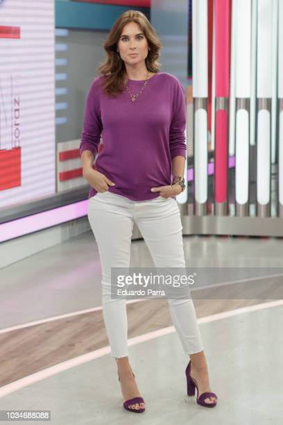 Lourdes Montes attends the 'Corazon' TV programme press conference at TVS studios on September 17 2018 in Madrid Spain