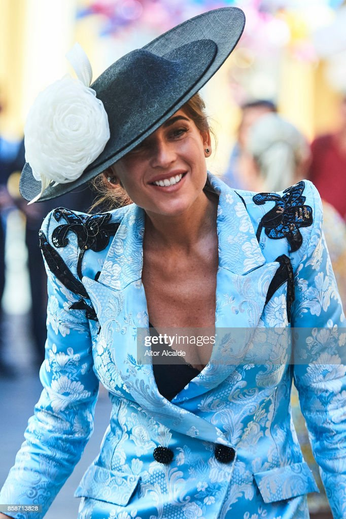 Lourdes Montes during the Sibi Montes And Alvaro Sanchis Wedding at Parroquia Santa Ana on October 7, 2017 in Seville, Spain.
