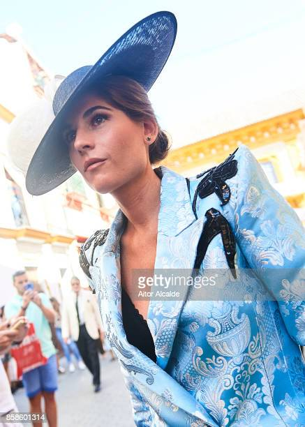 Lourdes Montes looks on during her wedding with Alvaro Sanchis at Parroquia Santa Ana on October 7 2017 in Seville Spain