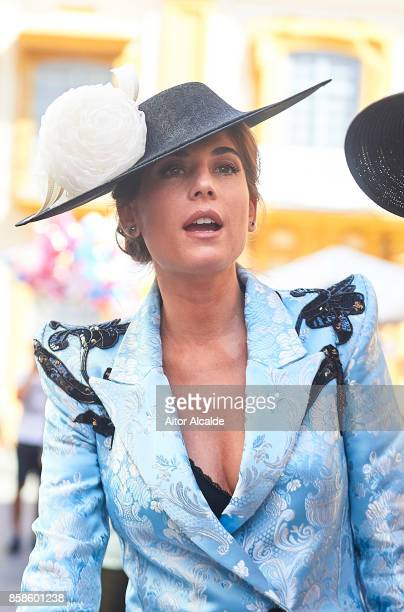 Lourdes Montes looks on during Sibi Montes And Alvaro Sanchis Wedding at Parroquia Santa Ana on October 7 2017 in Seville Spain