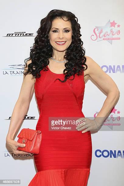 Lourdes Munguia arrives at Premios TV y Novelas 2015 at Televisa San Angel on March 9 2015 in Mexico City Mexico