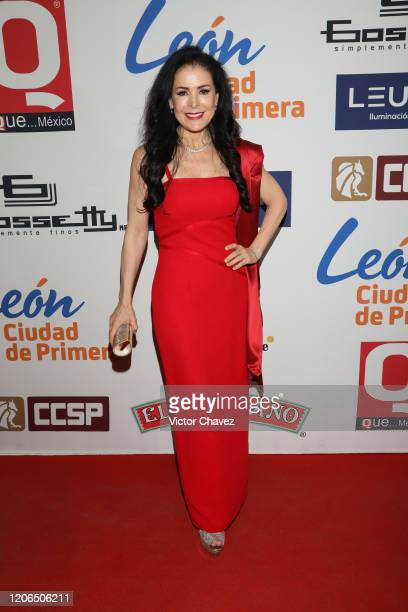 Lourdes Munguia attends the Q Awards by Q magazine at Soumaya Museum on March 10 2020 in Mexico City Mexico