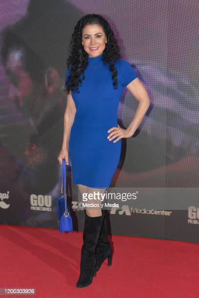 Lourdes Munguia poses for photo during a Red Carpet of 'Jesucristo Superestrella' Plaque Unveiling at Centro Cultural 1 on January 17 2020 in Mexico...