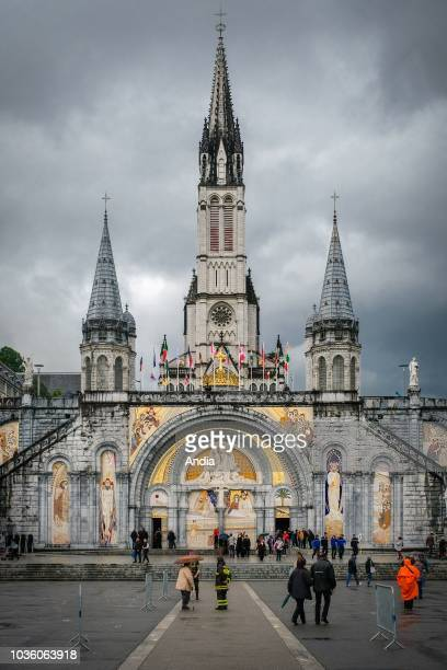 Lourdes . . Sanctuaries most visited pilgrimage shrine in France. The Rosary Basilica and the Basilica of the Immaculate Conception, commonly known...