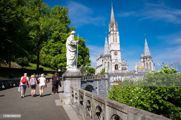Lourdes Sanctuaries most visited pilgrimage shrine in France The Rosary Basilica and the Basilica of the Immaculate Conception commonly known as the...