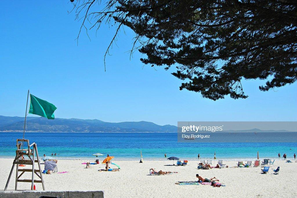 Louro, Playa de San Francisco.- Muros, A Coruña - Galicia : Stock-Foto
