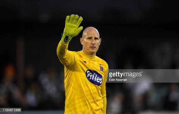 Louth Ireland 10 July 2019 Gary Rogers of Dundalk following the UEFA Champions League First Qualifying Round 1st Leg match between Dundalk and Riga...