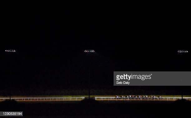 Louth , Ireland - 11 January 2021; A view of the field during the Follow Us On Twitter @DundalkStadium Maiden at Dundalk Stadium, in Louth.