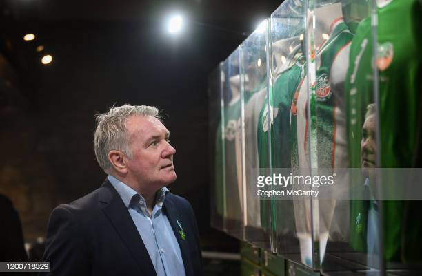 Louth , Ireland - 13 February 2020; Former Republic of Ireland international Ray Houghton during the National Football Exhibition Launch at the...