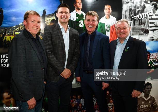 Louth , Ireland - 13 February 2020; In attendance, from left, Former Republic of Ireland international Steve Staunton, Former Republic of Ireland...