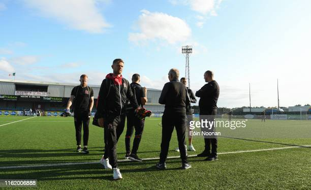 Louth , Ireland - 16 August 2019; Dane Massey of Dundalk prior to the SSE Airtricity League Premier Division match between Dundalk and Finn Harps at...