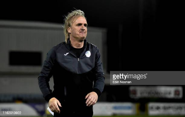 Louth , Ireland - 16 August 2019; Finn Harps manager Ollie Horgan following the SSE Airtricity League Premier Division match between Dundalk and Finn...
