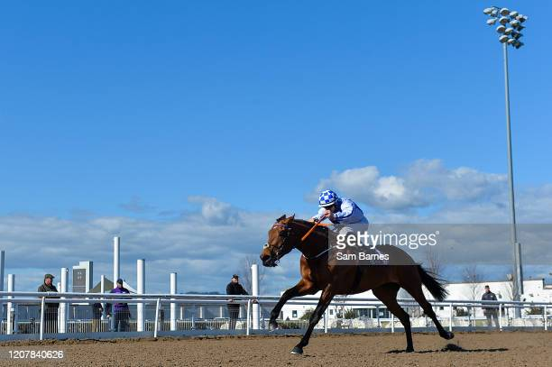Louth Ireland 20 March 2020 Aerclub with Wayne Jordan up on their way to winning the Love Your Mum At The Races Weekend Median Auction Race at...