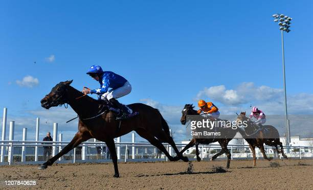 Louth Ireland 20 March 2020 Runners and riders including Point Reyes left with Conor Maxwell up during the Love Your Mum At The Races Weekend Median...