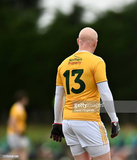 Louth , Ireland - 24 October 2020; Patrick Cunningham of Antrim during the Allianz Football League Division 4 Round 7 match between Antrim and...