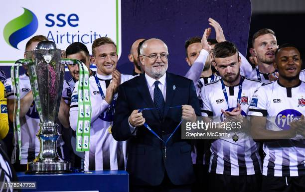 Louth , Ireland - 25 October 2019; Fran Gavin, FAI Director of Competitions, during the SSE Airtricity League Premier Division match between Dundalk...